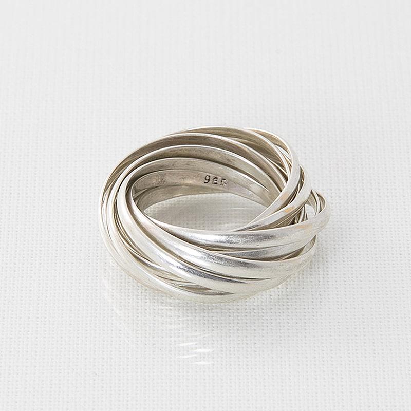 Bagues / Argent 925 / 12 anneaux