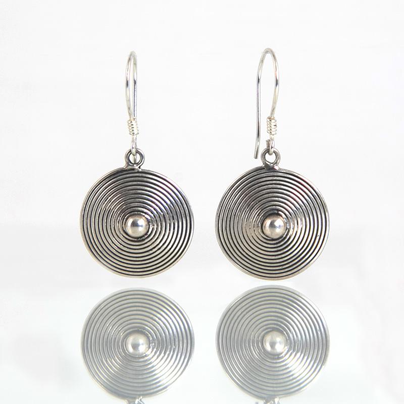 Boucles d'oreilles / Argent KAREN ETHNIQUE / Laos