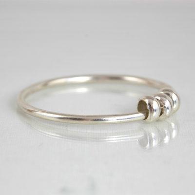 Bracelets / Argent KAREN ETHNIQUE / Jonc 3 perles