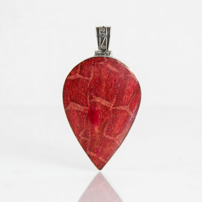 Pendentifs / Argent 925 Coquillage / Talisman Corail rouge