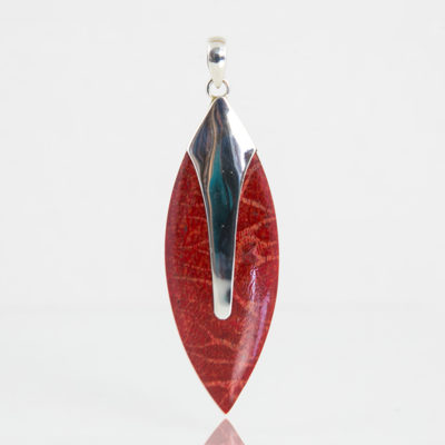 Pendentifs / Argent 925 Coquillage / Sylphide Corail rouge